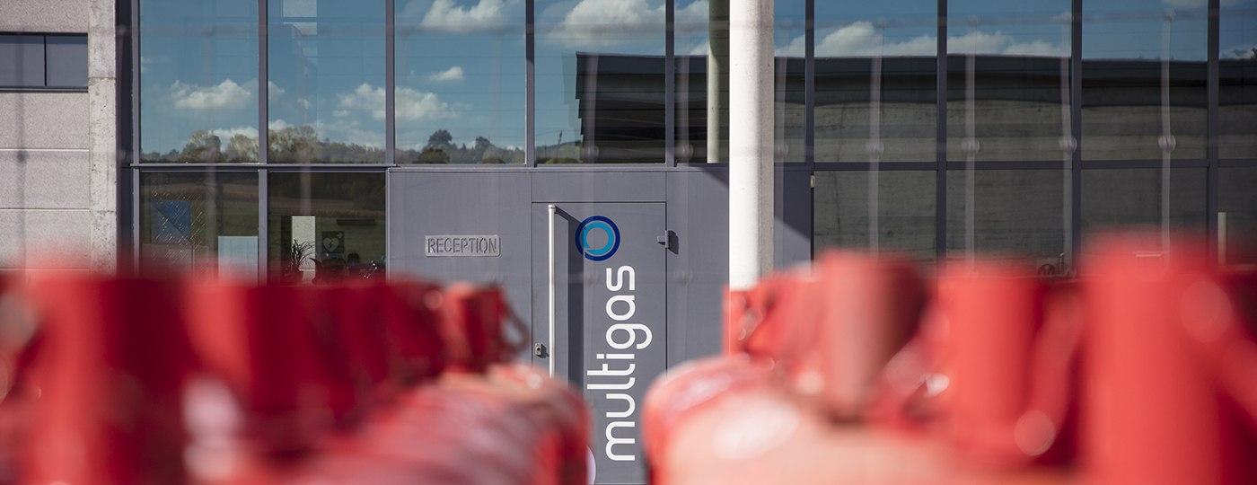 Eingang der Räumlichkeiten Multigas